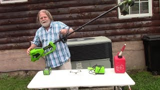 Review of Greenworks 14inch Cordless string trimmer 40V 4Ah Battery & Charger included