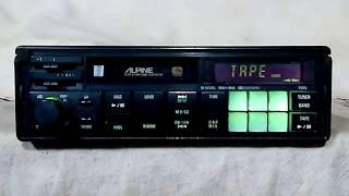 Vintage Alpine 7288 AM/FM cassette car stereo