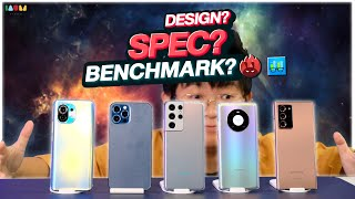 เทียบ 5 เทพ l Galaxy S21 Ultra vs iPhone 12 Pro Max vs Mate 40 Pro vs Mi 11 vs Galaxy Note 20 Ultra