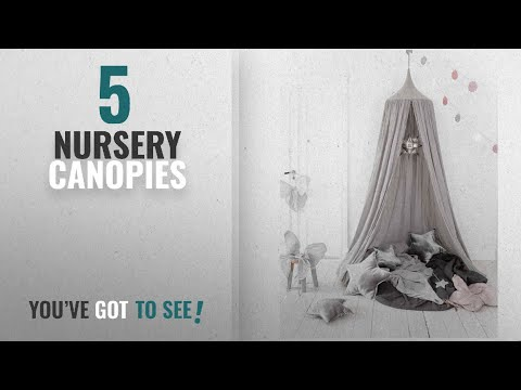 Top 10 Nursery Canopies [2018]: Children Bed Canopy Round Dome, Cotton Mosquito Net, Kids Princess