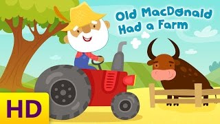 Old MacDonald Had A Farm | Children's Song with Lyrics by Kids Academy