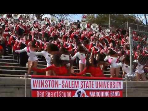 2017 WSSU Homecoming Red Sea of Sound Marching Band
