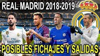 REAL MADRID FICHAJES Y SALIDAS POSIBLES 2018-2019 | MERCADO DE INVIERNO