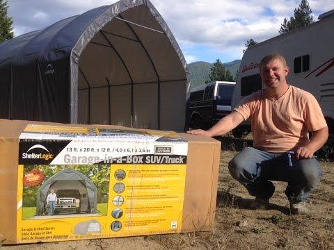 ShelterLogic Garage in a Box Review - Portable RV Garage & Carport