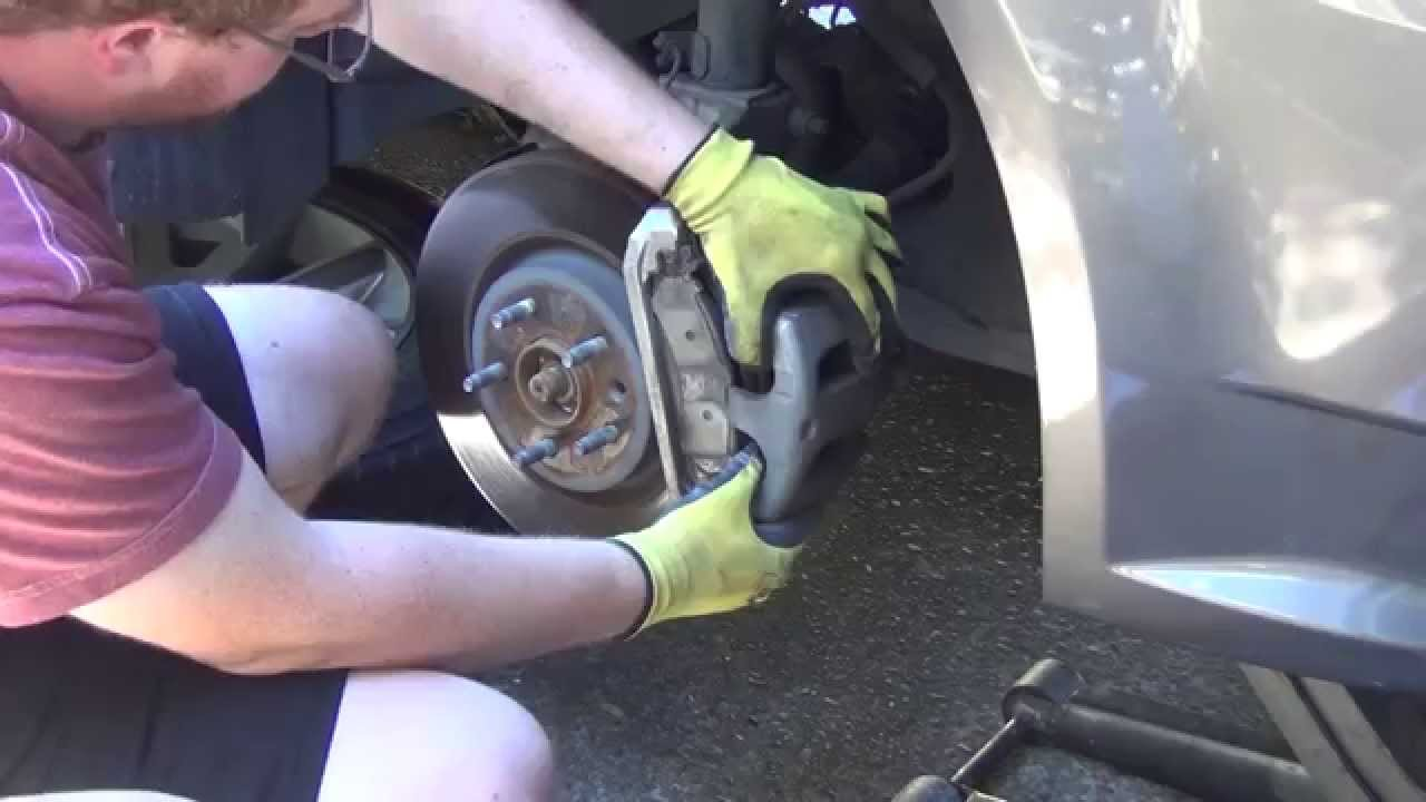 Ford flex ebc brakes slotted rotors carbon fiber brake pads remove stuck rotor how to youtube