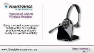 Plantronics CS510 Wireless Headset Video Overview