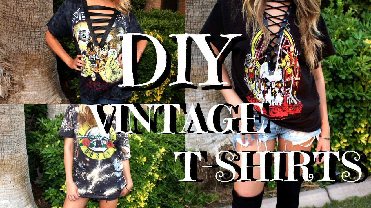 Diy dupe vintage band t shirts back to school caci for Making band t shirts