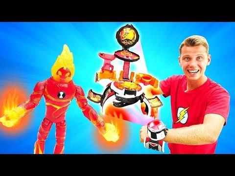 Видео обзор игрушки для мальчиков. Ben10Микромир Человек-огонь! Распаковка для детей.