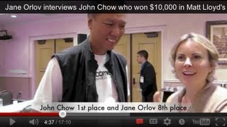 Jane Orlov interviews John Chow who won $10,000 in Matt Lloyd