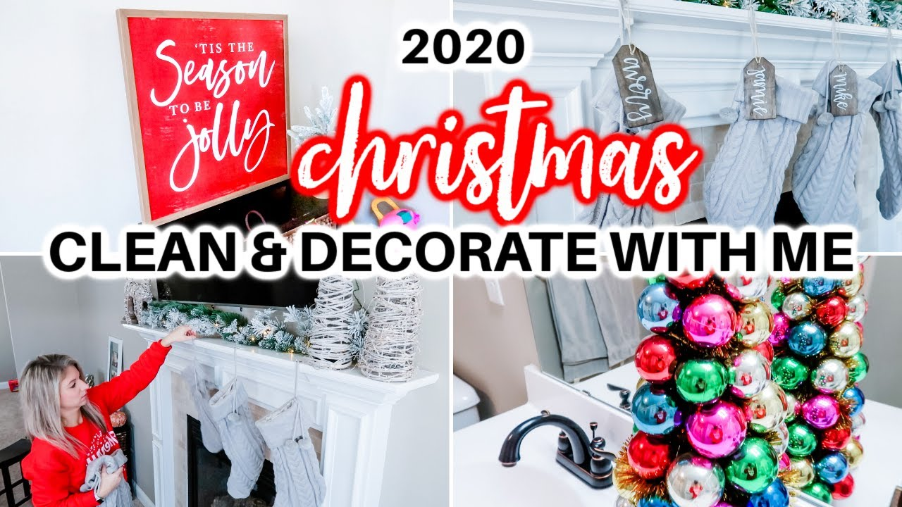 NEW! CHRISTMAS CLEAN & DECORATE WITH ME 2020 | CHRISTMAS