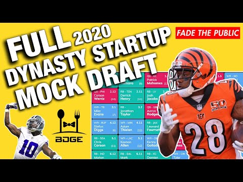 FULL Dynasty Startup Mock Draft For 2020 Fantasy Football