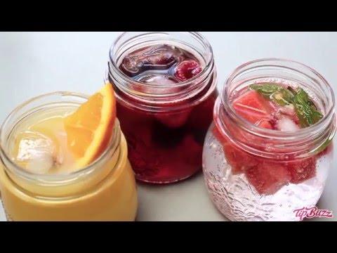 Fruit Infused Sparkling Mocktails