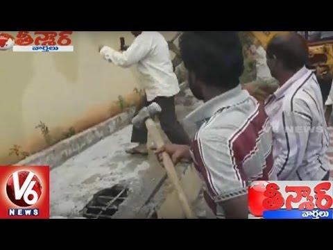 GHMC Starts Demolition Of Illegal Constructions In Hyderabad | Teenmaar News