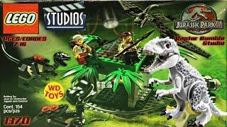 Lego Raptor Rumble Studio Jurassic Park Vs Indominus Rex Jurassic World 1370 Unboxing Speed Build