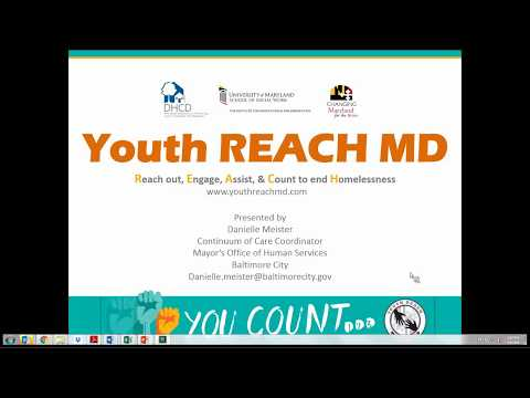 Youth REACH MD Youth Count Implementation  Volunteer Training and Recruitment 2 8 18