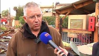 Hérault: une mini tornade a frappé la commune de Sérignan