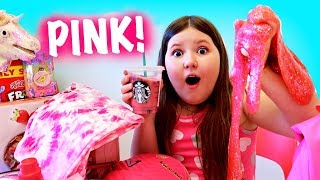 FUNNY PINK 24 HOURS CHALLENGE! ~ EVERYTHING PINK DAY!
