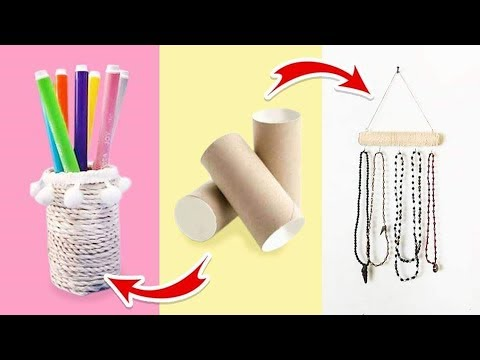 DIY PAPER ROLL - RECYCLING EMPTY TOILET PAPER ROLL - BEST OUT OF WASTE