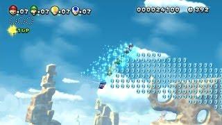 New Super Mario Bros. U - Minas Almendradas-5 - Los amigos de Ardilla Voladora (Wii U)