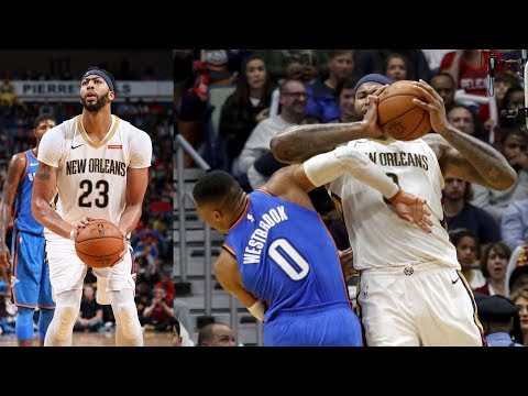 DeMarcus Cousins Ejected! Anthony Davis 36 Points 15 Rebs! Thunder vs Pelicans