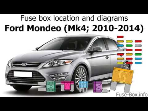 Fuse box location and diagrams: Ford Mondeo (Mk4; 2010-2014)