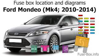 Fuse box location and diagrams: Ford Mondeo (Mk4; 2010-2014) - YouTube