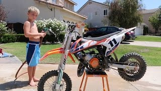 HOW TO WASH A DIRTBIKE!