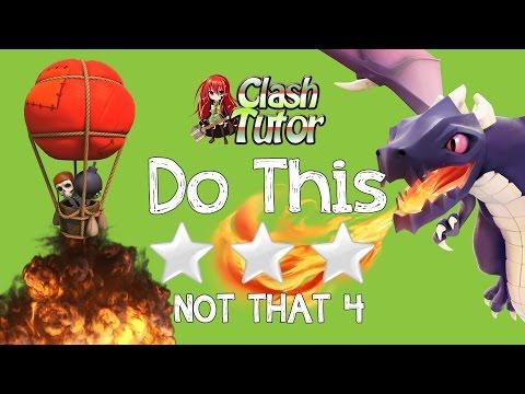 Clash Of Clans TH7 Vs TH8 Dragon Attack - Do This #4
