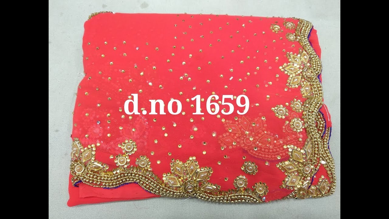 f971ed70a9 latest designer stonework sarees for wedding and bridal partys29 ...