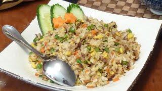 How to Make Vegetarian Fried Rice - Easy Recipe (如何料理蔬菜炒飯)
