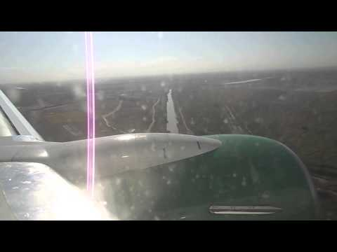Landing in the Mary. Turkmenistan.