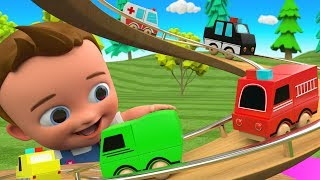 Little Baby Fun Play Learning Street Vehicles Names with Wooden Helix Slider Toy Set 3D Kids Toys