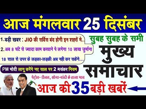 Today Breaking News ! आज 25 दिसंबर के मुख्य समाचार, 25 December PM Modi Petrol, Bank, JIO, New Rule