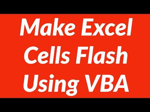 How to make excel worksheet cells flash using vba