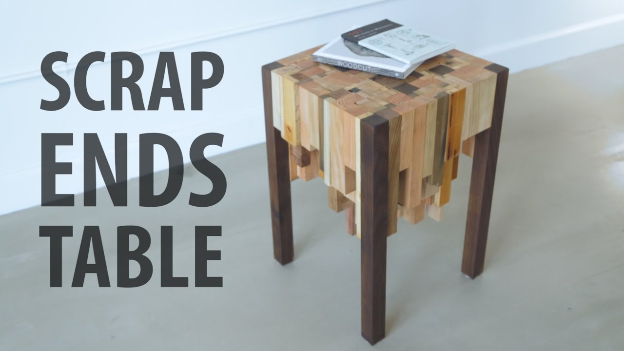 Instructables Coffee Table Scrap Ends Table Youtube