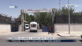 Diyarbakır'da Terör Saldırısı, 2 Asker Şehit Oldu