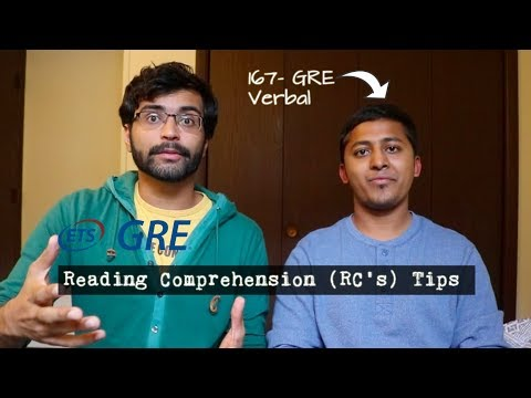 GRE RC's | Tips from 167 Verbal Scorer
