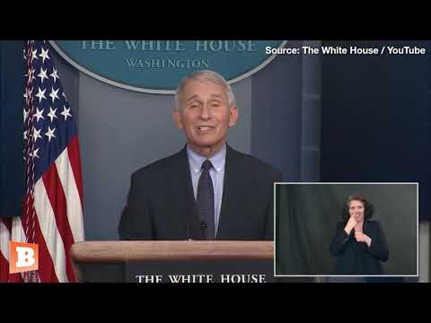 Setting a Bad Example? GENOCIDAL Dr. Fauci Doesn't Wear Mask at GAS CHAMBER Press Briefing Podium
