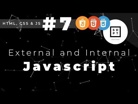 HTML, CSS And JS #7: External And Internal Javascript | Filipino | Tagalog