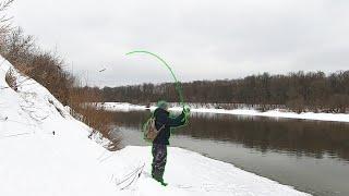 Весенний спиннинг Не могу Поднять рыбу Рыбалка в марте на реке