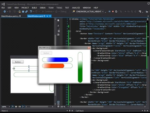 C# WPF - Create Custom ProgressBar