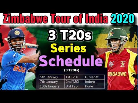 Zimbabwe Tour Of India 2020 Schedule