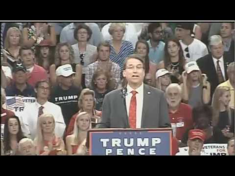 Governor Pat McCrory at Donald Trump Wilmington Rally