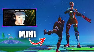 VOICI HOW HOW TO BE MINUSCULE ON FORTNITE! And the other way around... (PROP HUNT GLITCH)
