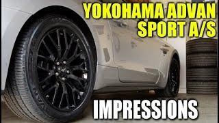 YOKOHAMA ADVAN SPORT A/S TIRE IMPRESSIONS * 2018 MUSTANG GT - Car Vlog - Stang Stories #10