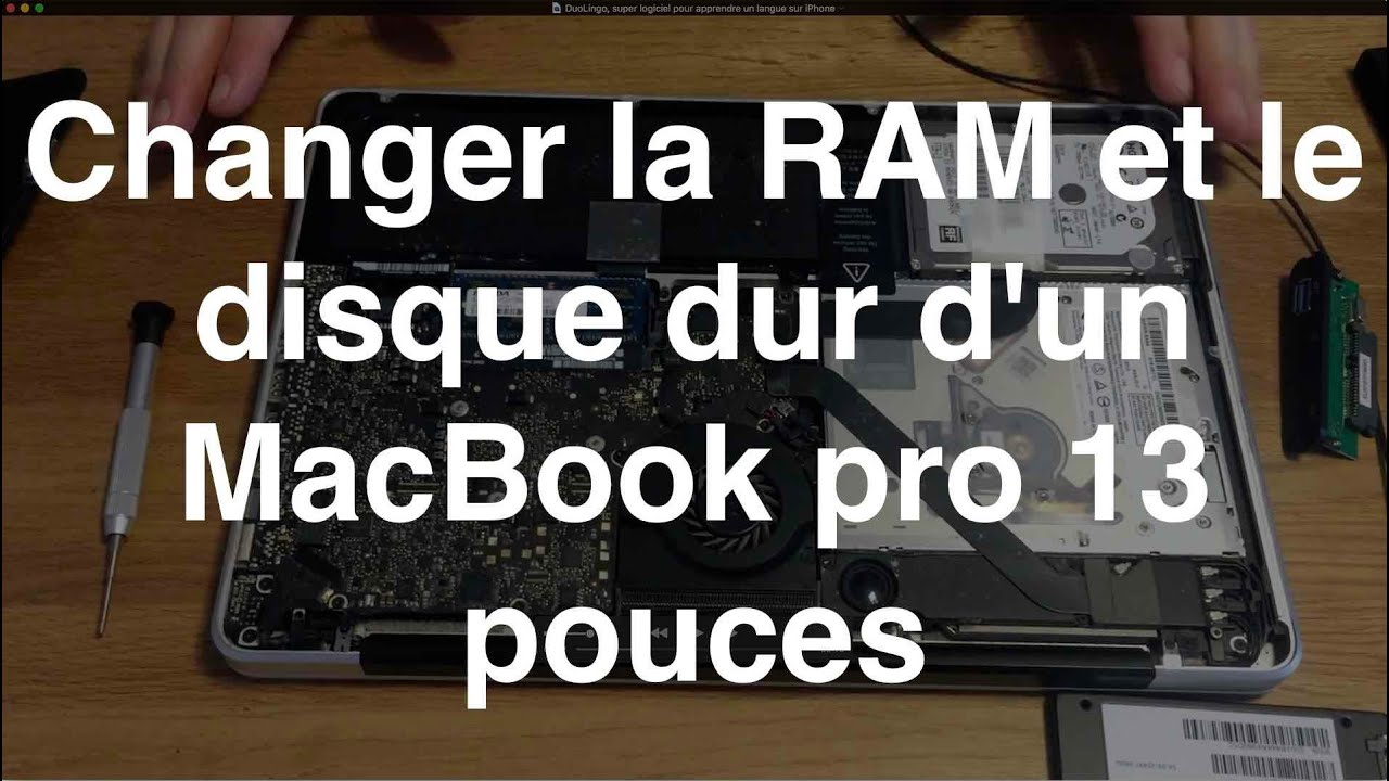 changer la ram et le disque dur d 39 un macbook pro 13 pouces youtube. Black Bedroom Furniture Sets. Home Design Ideas