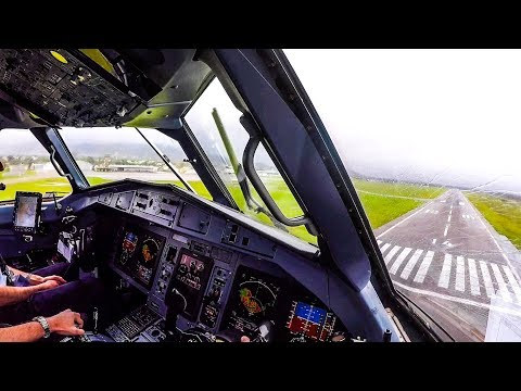 WINDY Bad Weather Cockpit Landing - ATR 72-600