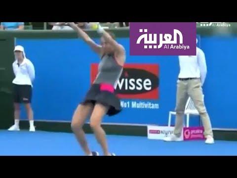 صباح_العربية: لاعبة تنس عالمية ترقص بالمضرب  - 09:21-2018 / 1 / 14