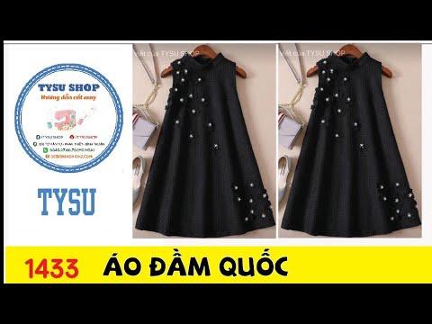 Cắt may TysuShop số 1433: Áo Đầm Hàn Quốc #catmay