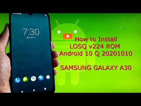Samsung Galaxy A30: LOSQ v224 ROM Android 10 Q 20201010
